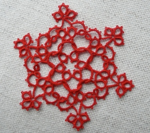 Red tatted snowflake