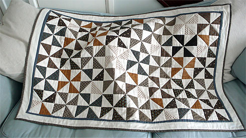 Quilt on the sofa
