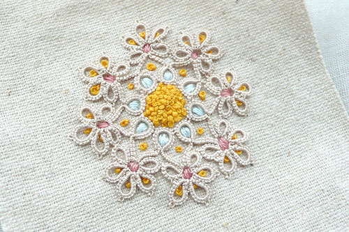embroidery and tatting