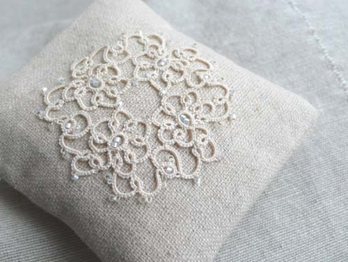 White lavender bag