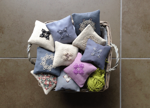 tatted lavender bags